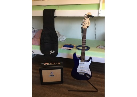 Fender strat and practice amp