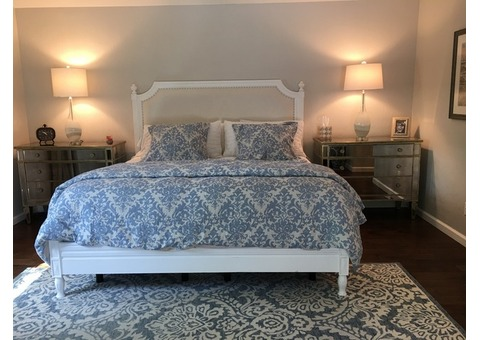 Arhaus king white bed frame
